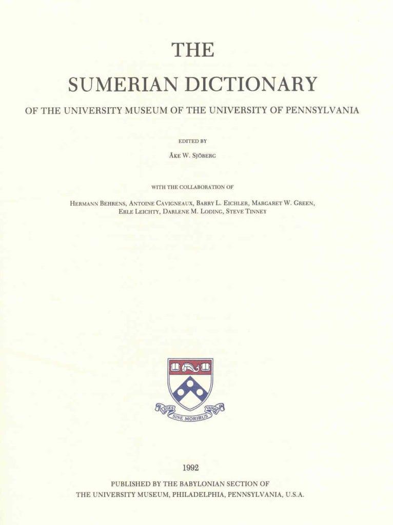sumeriandict